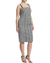 Marina Rinaldi - Houndstooth Check Dress - Lyst