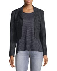 RTA - Cara Stripe Crop Blazer - Lyst