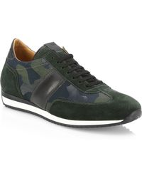 Saks Fifth Avenue - Collection Camo Leather & Suede Sneakers - Lyst
