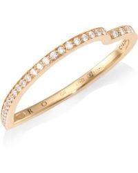 Repossi - Antifer Diamond Pave 18k Rose Gold Heart Ring - Lyst