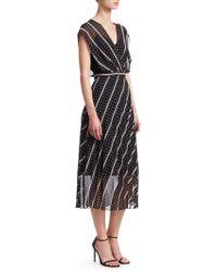Sandro - Simple Cadence Malka Printed Midi Dress - Lyst
