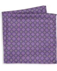 Saks Fifth Avenue - Collection Medallion Diamonds Silk Pocket Square - Lyst