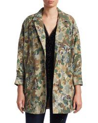 Rachel Comey - Zia Oversized Camo Print Trench Coat - Lyst