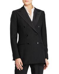Polo Ralph Lauren - Barathea Double-breasted Wool & Silk Jacket - Lyst