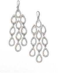 ABS By Allen Schwartz - Pave Chandelier Earrings - Lyst