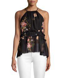 Joie - Shawnette Floral Silk Top - Lyst
