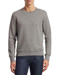Acne Studios - Men's Faise Crewneck Sweatshirt - Grey - Lyst