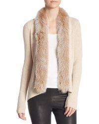 Saks Fifth Avenue - Fox Fur-trim Casca Cardigan - Lyst