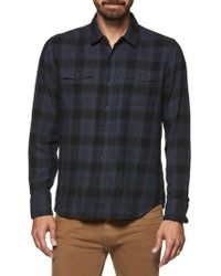 PAIGE - Evervett Slim Fit Plaid Shirt - Lyst