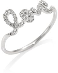 Sydney Evan - Love Diamond & 14k White Gold Ring - Lyst