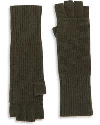 Portolano - Ribbed Cashmere Gloves - Lyst