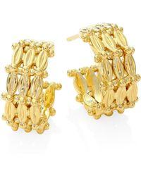 Temple St. Clair - Vigna 18k Yellow Gold Hoop Earrings/0.45 - Lyst