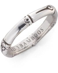 John Hardy - Bamboo Sterling Silver Slim Band Ring - Lyst