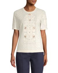 Tory Burch - Channing Cotton Sweater - Lyst