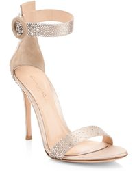 Gianvito Rossi - Strass Crystal Embellished Sandals - Lyst