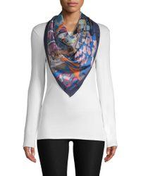 Ferragamo - Hollywood Foulard Printed Silk Scarf - Lyst