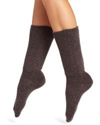 Natori - Honey Comb Knit Crew Socks - Lyst