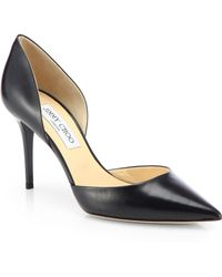 Jimmy Choo - Addison 80 Leather D'orsay Pumps - Lyst