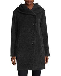 Sofia Cashmere - Suri Alpaca Wool Blend Cocoon Coat - Lyst