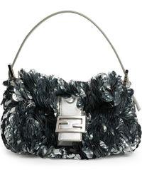 Fendi - Baguette Paillette-embellished Leather Shoulder Bag - Lyst