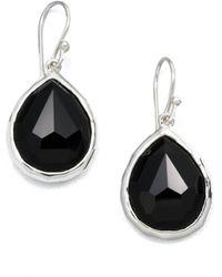 Ippolita - Rock Candy Black Onyx & Sterling Silver Mini Teardrop Earrings - Lyst
