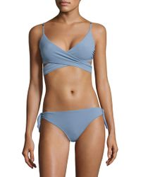 Stella McCartney - Timeless Basics Wrap Bikini Top - Lyst