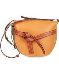 Loewe - Large Colorblock Leather Gate Crossbody Bag - Lyst