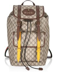 9794f421a7a9 Gucci Beige Gg Supreme Donald Duck Backpack in Natural for Men - Lyst