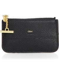 Chloé - Drew Leather Card Holder - Lyst