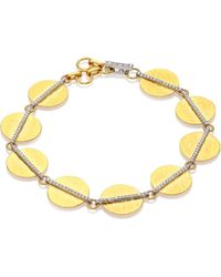 Gurhan - Lush Diamond, 24k Yellow Gold & 18k White Gold Bracelet - Lyst