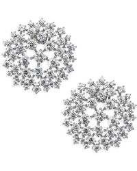 Adriana Orsini - Leia Swarovski Crystal Button Earrings - Lyst