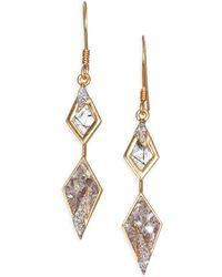 Shana Gulati - Mohare 18k Gold, Quartz & Diamond Drop Earrings - Lyst