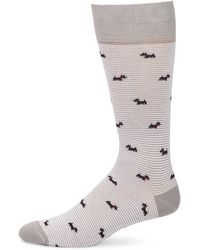 Saks Fifth Avenue - Collection Striped Dogs Mid-calf Socks - Lyst