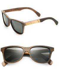 Shwood - Canby Maplewood Square Sunglasses - Lyst