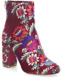 Joie - Saleema Brocade Leather Ankle Boots - Lyst