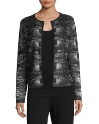 Eileen Fisher - Graphic Open Cardigan - Lyst
