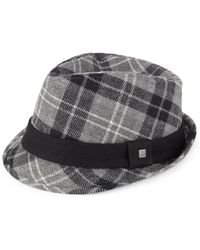 Block Headwear - Plaid Wool Fedora - Lyst