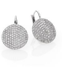 Phillips House - Affair Diamond & 14k White Gold Infinity Leverback Earrings - Lyst