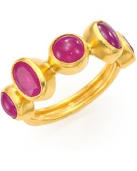 Gurhan - Amulet Hue Ruby & 24k Yellow Gold Ring - Lyst