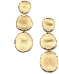 Marco Bicego - Lunaria 18k Yellow Gold Triple-drop Earrings - Lyst