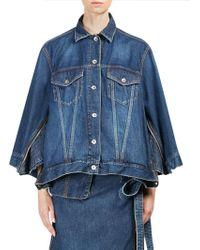 Sacai | Cotton Denim Jacket | Lyst
