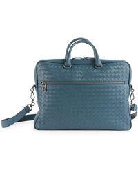 c05600545c0e Lyst - Bottega Veneta Leggeron Intrecciato Leather Briefcase in ...