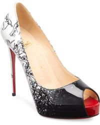 reputable site 8e97a d5e9d Christian Louboutin New Very Prive 100mm Crackled Leather ...