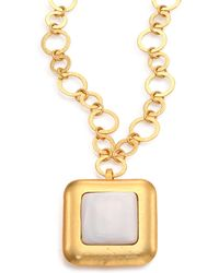 Stephanie Kantis - Crush Mother-Of-Pearl Square Pendant - Lyst