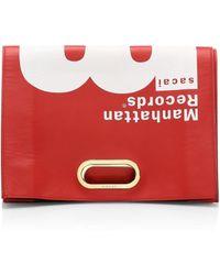 Sacai - Leather Record Bag Clutch - Lyst