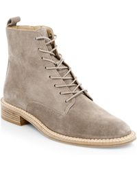 Vince - Cabria Suede Ankle Boots - Lyst