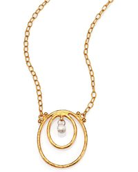 Gurhan - Hoopla Diamond & 24k Yellow Gold Pendant Necklace - Lyst