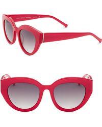 Colors In Optics - Carnavale Thick Plastic Cat Eye Sunglasses - Lyst