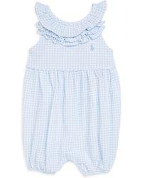 Ralph Lauren Baby Girl's Gingham Sleeveless Bodysuit