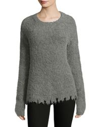 ATM - Raw Edge Hem Jumper - Lyst